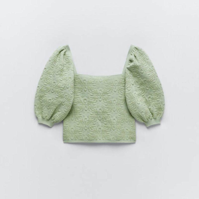 Bridgerton-inspired puff sleeves from Zara