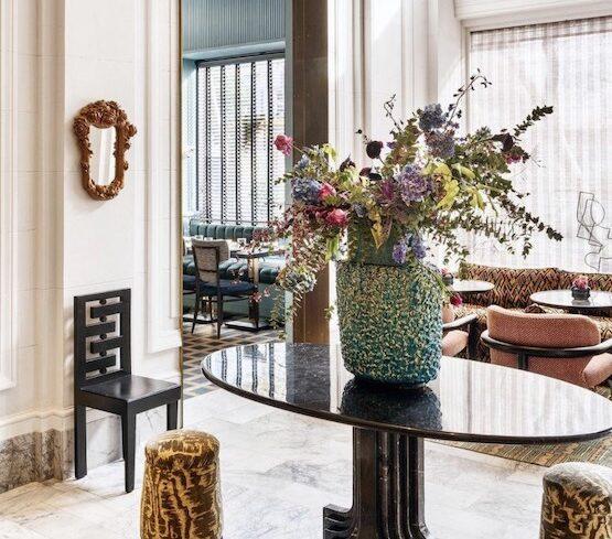 flower arrangement for spring home decor