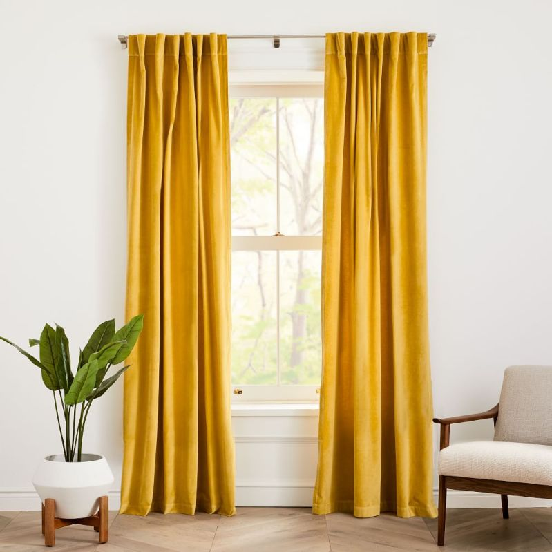 spring curtain from west elm