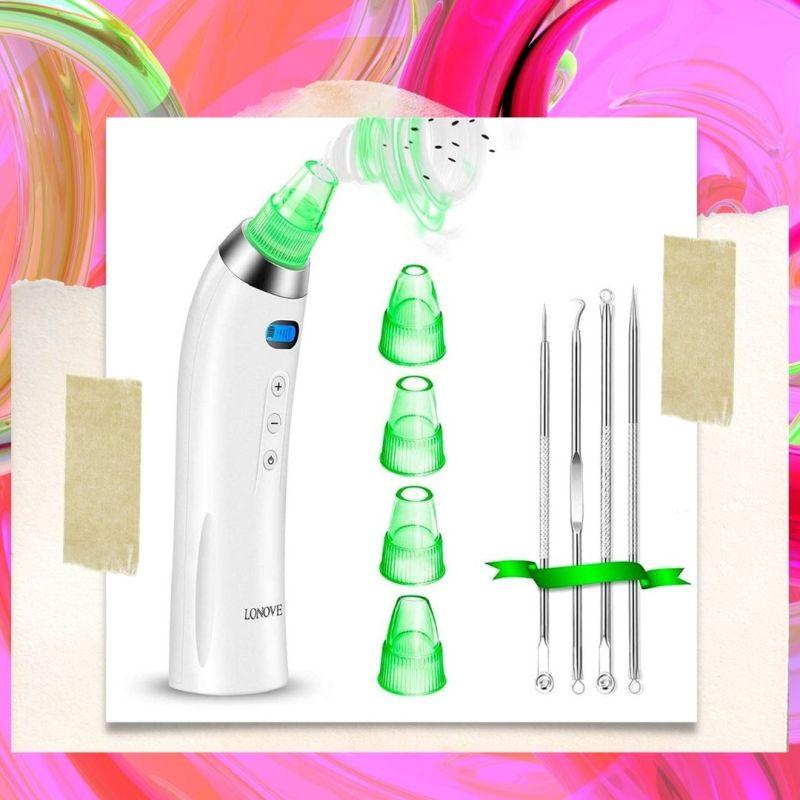 at-home aqua peel facial - Lonove pore vacuum