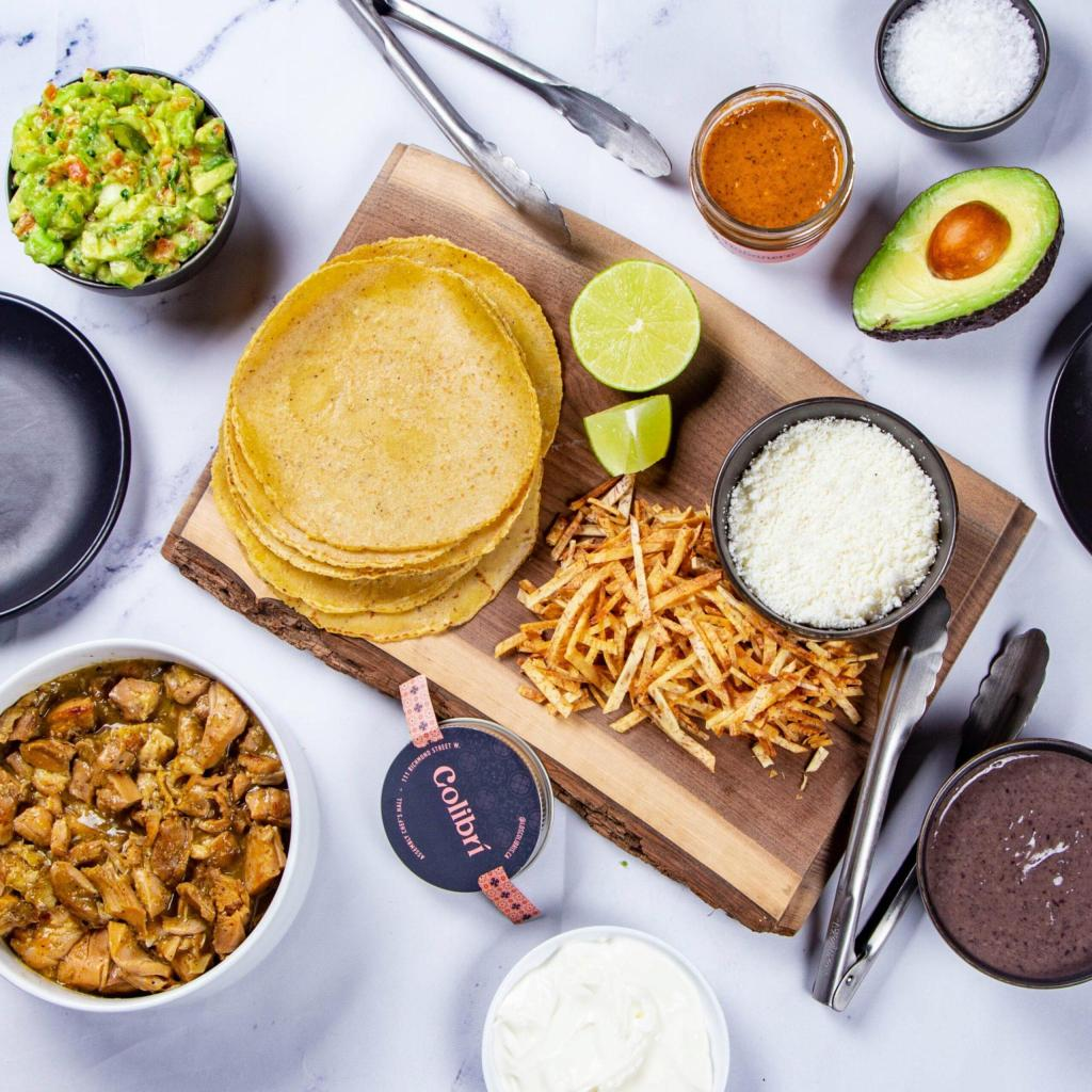 Chicken Verde Tacos meal kit from Colibri