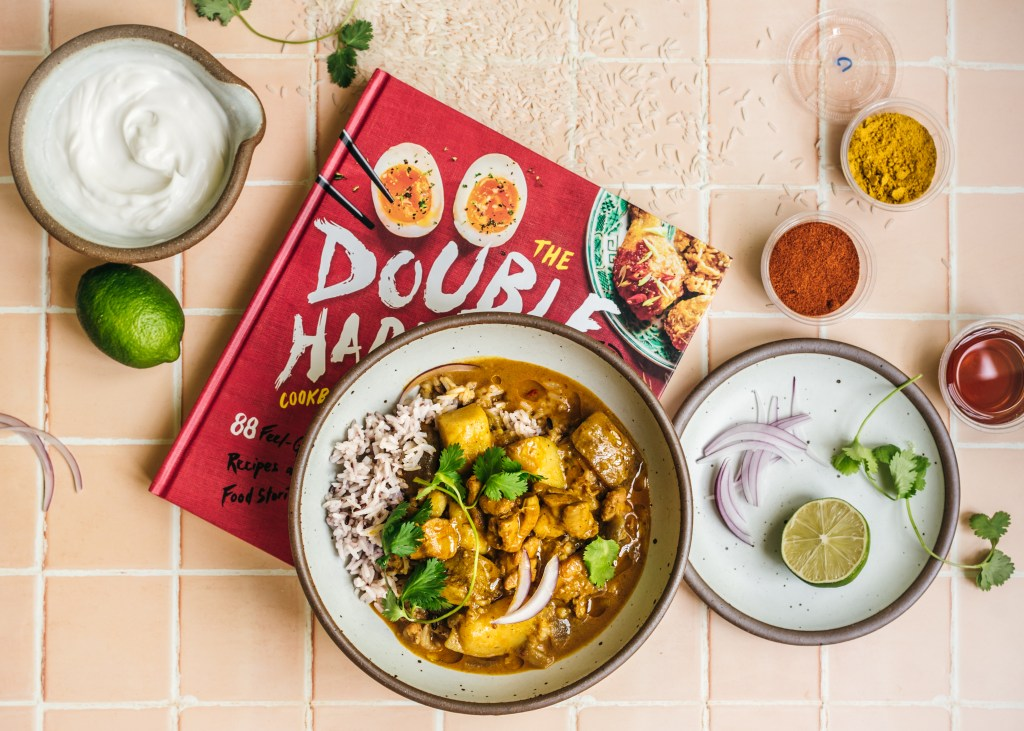 Macanese Portuguese chicken curry and Chef Trevor Lui's cookbook Double Happiness