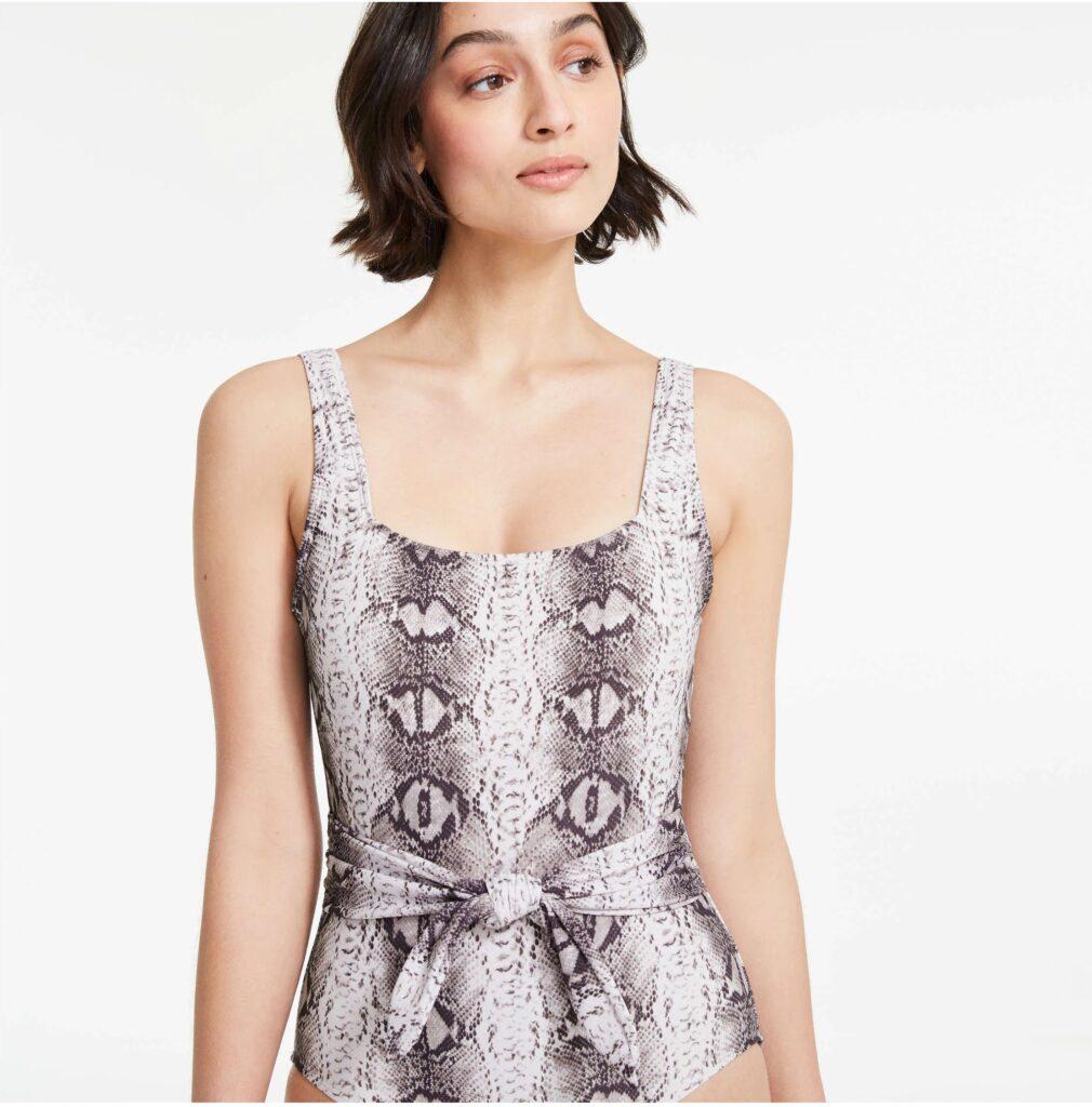 woman wearing JF x Roxy Earle swimsuit