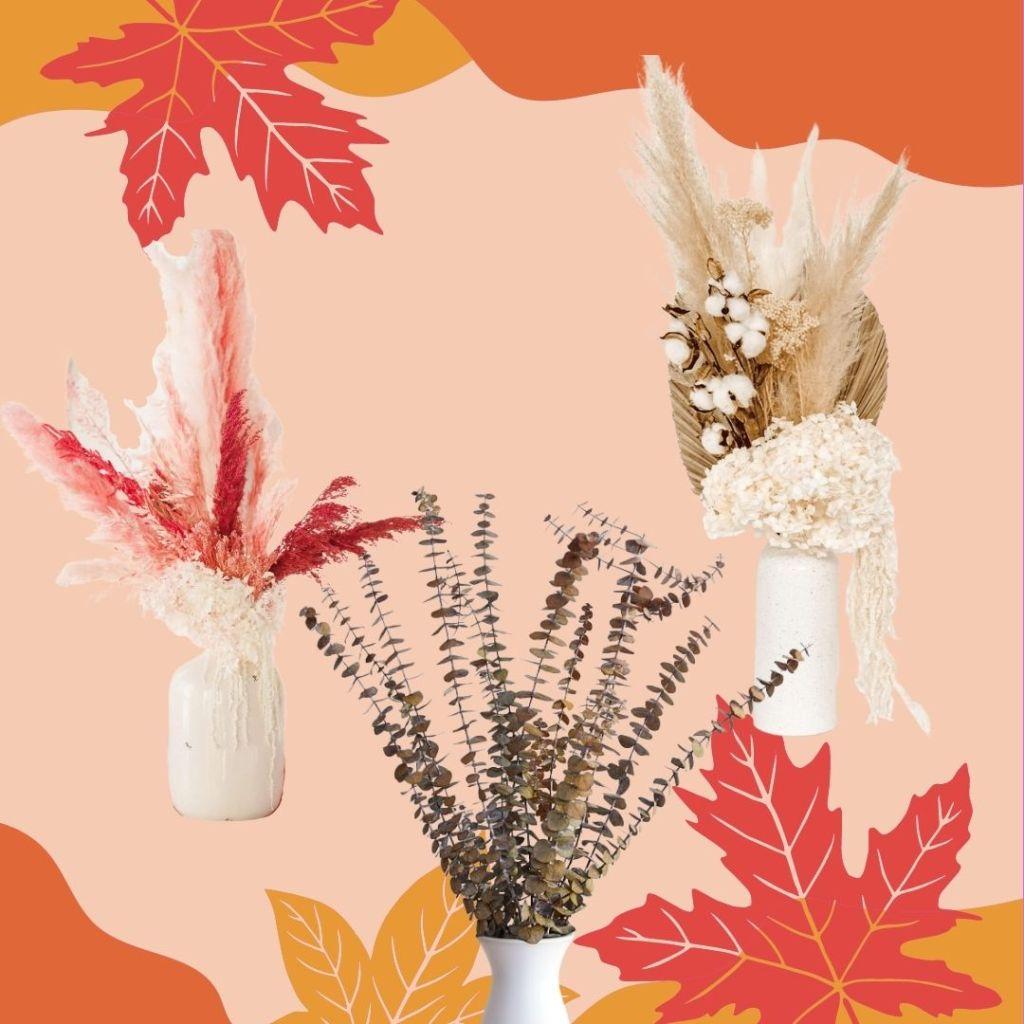 dried foliage for fall home decor