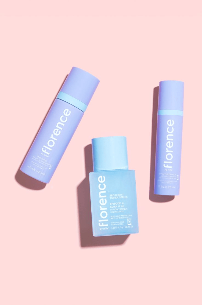 Florence by Mills blue light skincare collection