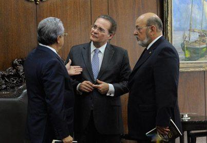 Robson Andrade, Renan Calheiros e José Carlos Lyra