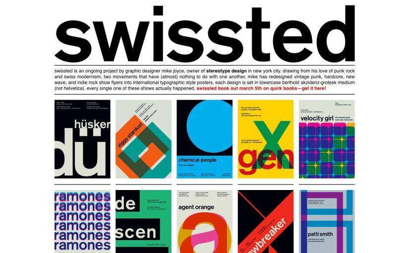Swissted è il progetto che ricrea i poster dei concerti delle migliori band indie seguendo le regole del modernismo svizzero