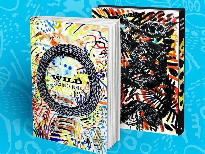 Un libro catalogo delle opere dell'artista Jules Buck Jones