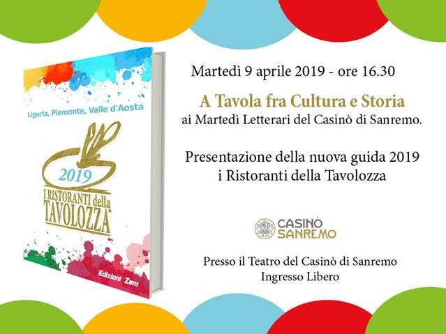 """Presentazione Guida 2019 dei """"Ristoranti della Tavolozza"""""""