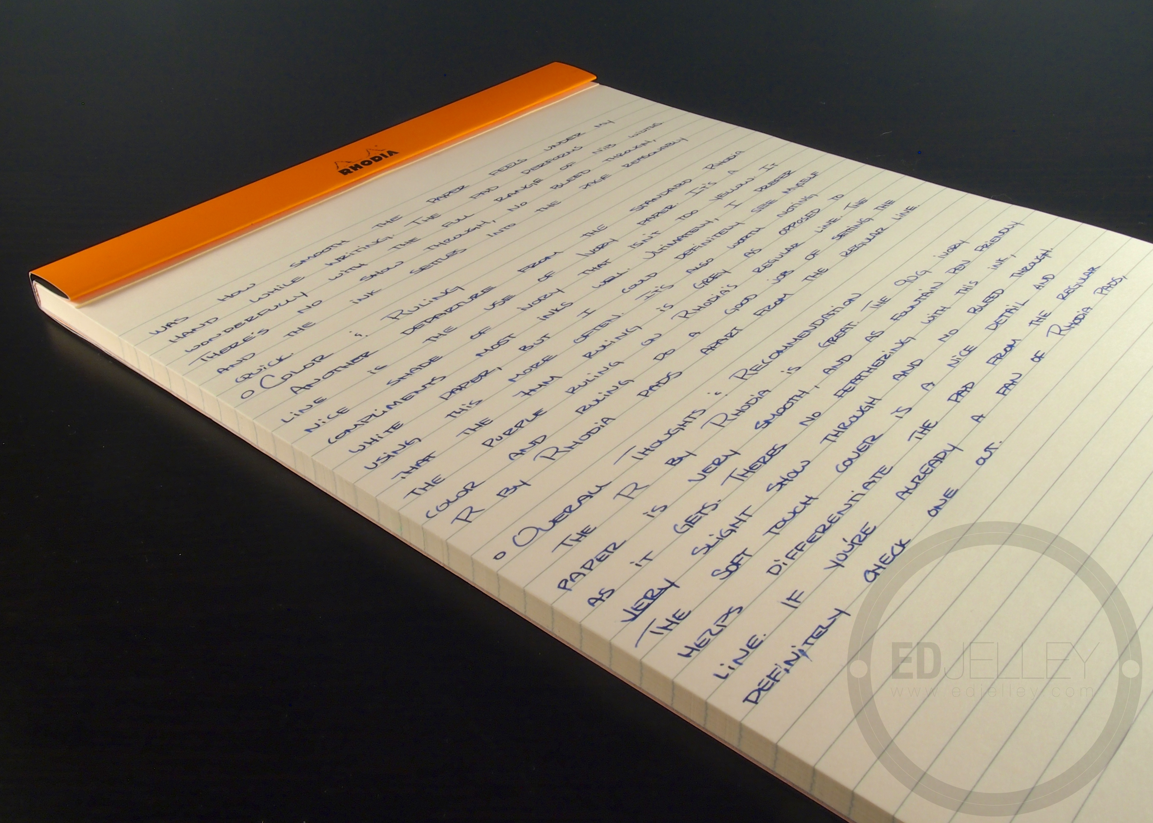 R By Rhodia No 18 Lined Notepad Handwritten Stationery Review Edjelley Fountain Pen