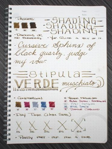 Stipula Verde Muschiato Green Fountain Pen Ink Review