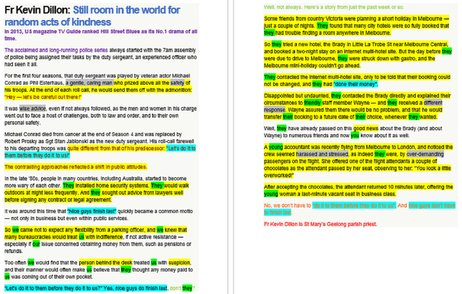 Opinion Article Examples