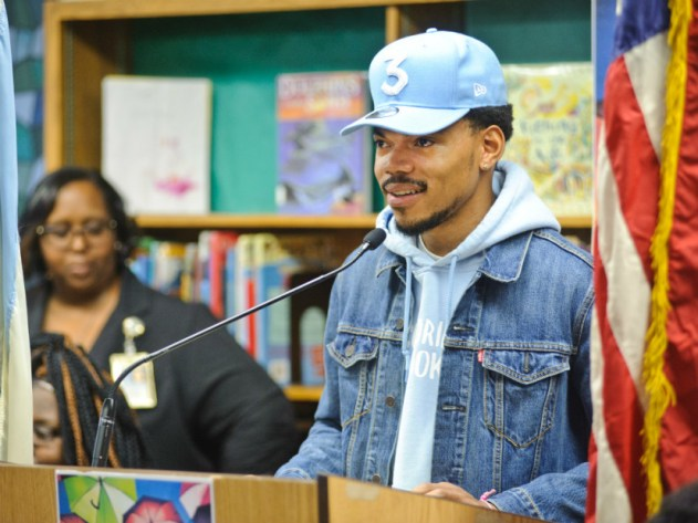 Chance the Rapper donates one million dollars.