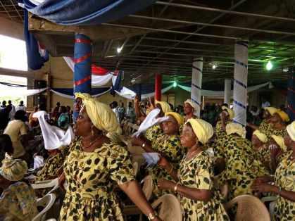 Ladies' choir at Professor Ansre's church