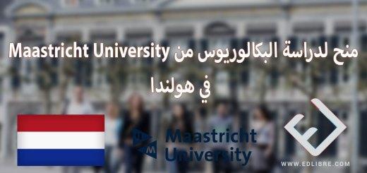 منح لدراسة البكالوريوس من Maastricht University في هولندا