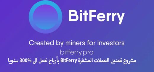 مشروع تعدين العملات المشفرة BitFerry بأرباح تصل الى 300% سنويا
