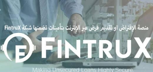 منصة الإقتراض او تقديم قرض عبر الإنترنت بتأمينات تضمنها شبكة FintruX