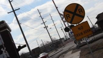 No Horn Train Sign