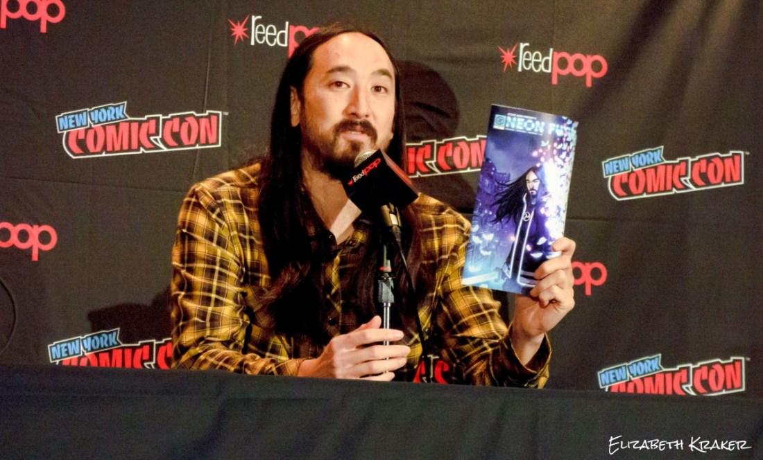 Steve Aoki at the New York City Comic Con