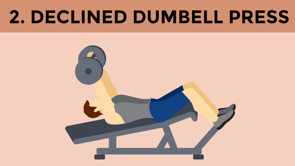 Declined Dumbell Press