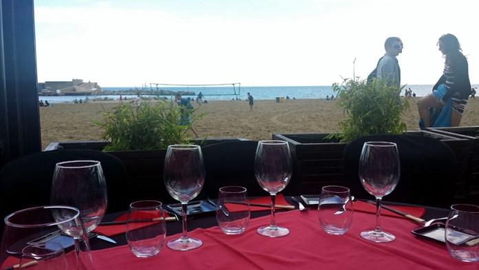 Lunch at the Beach at Shôko Barcelona in Barcelona, Spain