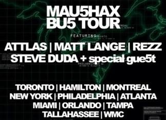mau5hax bus tour lineup, mau5hax tour, mau5hax lineup