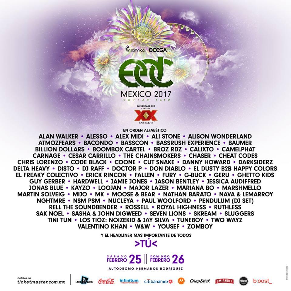 Edc Mexico 2017 Lineup Announced Edm Identity
