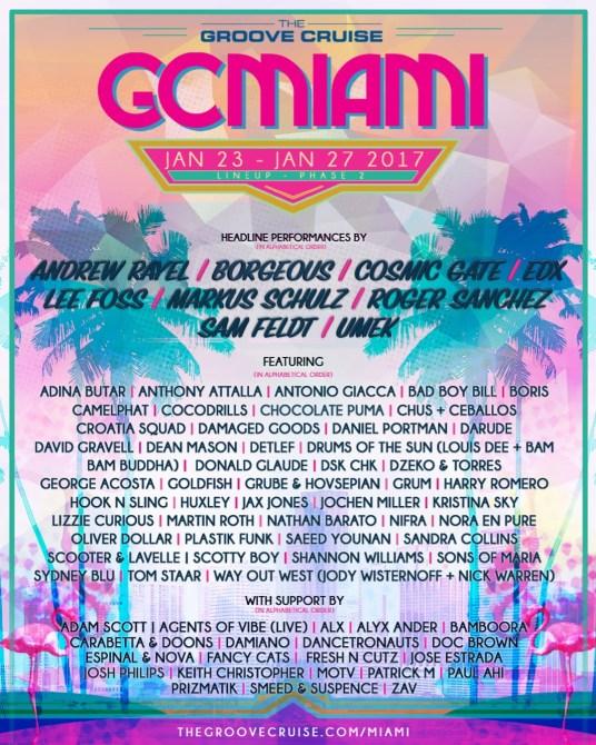 Groove Cruise Miami 2017 Lineup