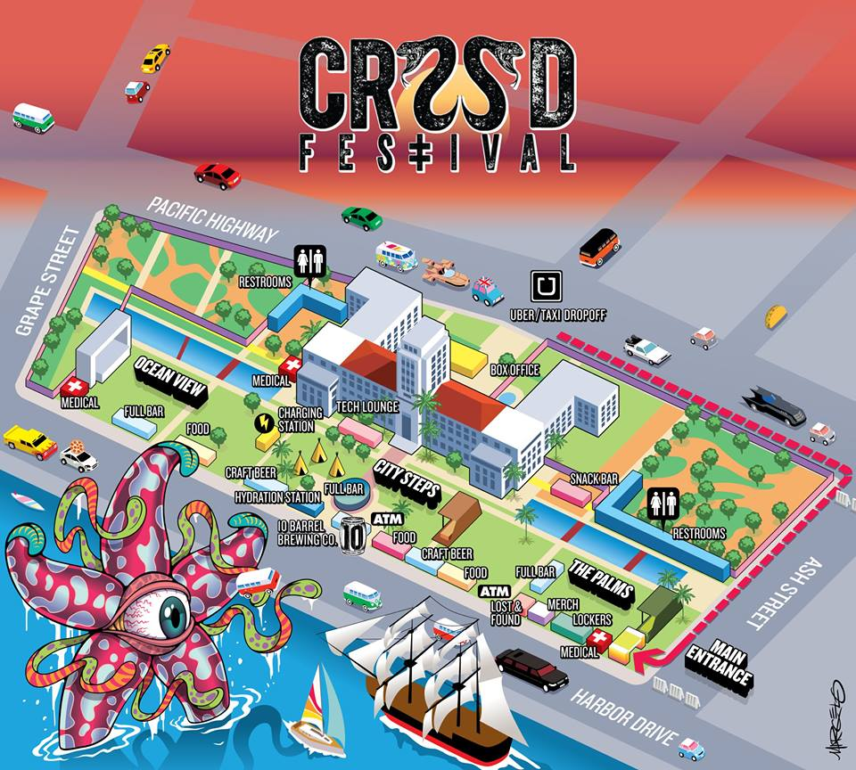 CRSSD Festival Spring 2017 Map