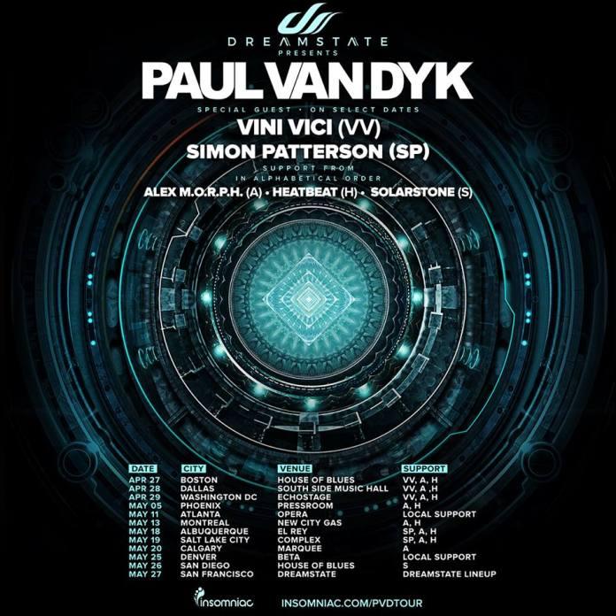 Dreamstate Presents Paul Van Dyk Tour 2017 square