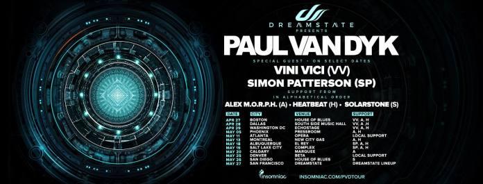 Dreamstate Presents Paul van Dyk Tour Schedule