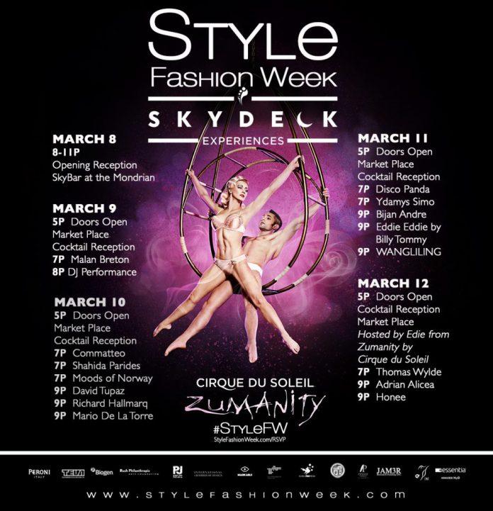 Insomniac SKYDECK Style Fashion Week Los Angeles 2017