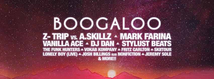 Boogaloo Art Car & Music Festival 2017 Lineup Banner