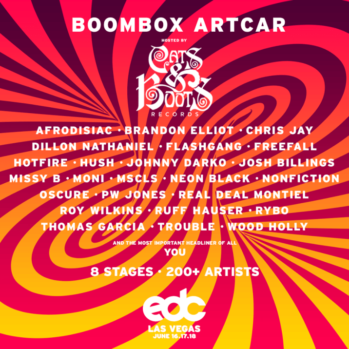 EDCLV 2017 Boombox Art Car Lineup