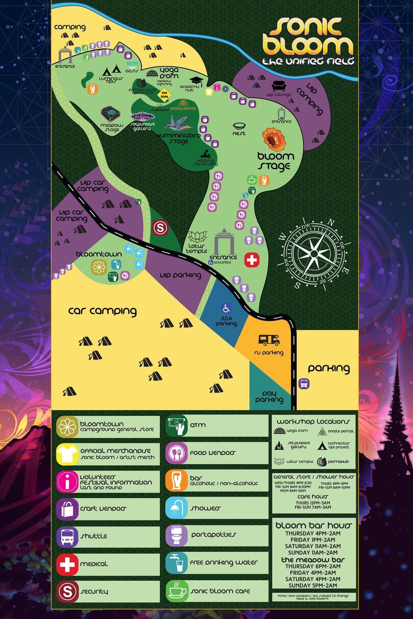 Sonic Christmas Hours.Sonic Bloom 2017 Set Times Festival Map More Edm Identity