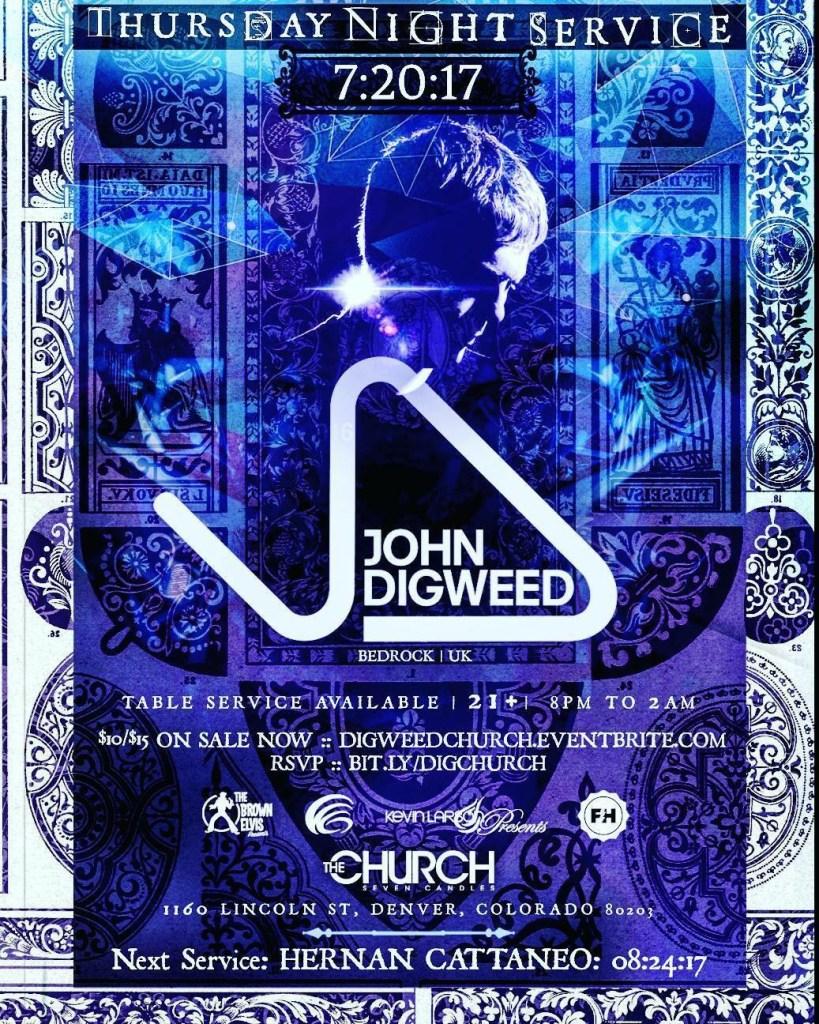 John Digweed at The Church Nightclub Sunday Service