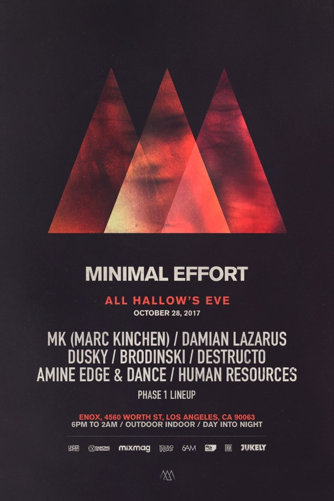 Minimal Effort: All Hallows' Eve 2017 Phase 1 Lineup Flyer