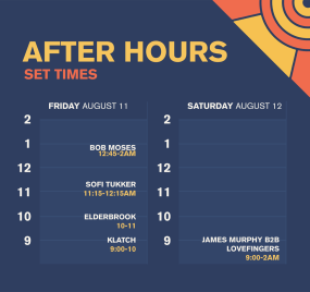 Splash House 2017 August Set Times After Hours