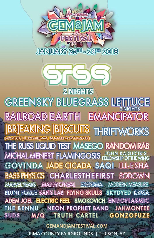 Gem & Jam Festival 2018 Initial Lineup