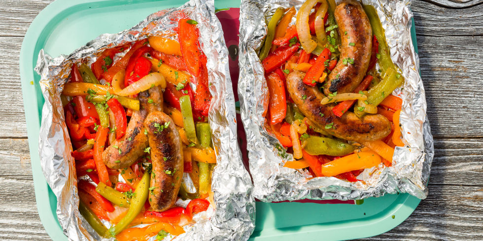 Sausage Peppers Foil Packet