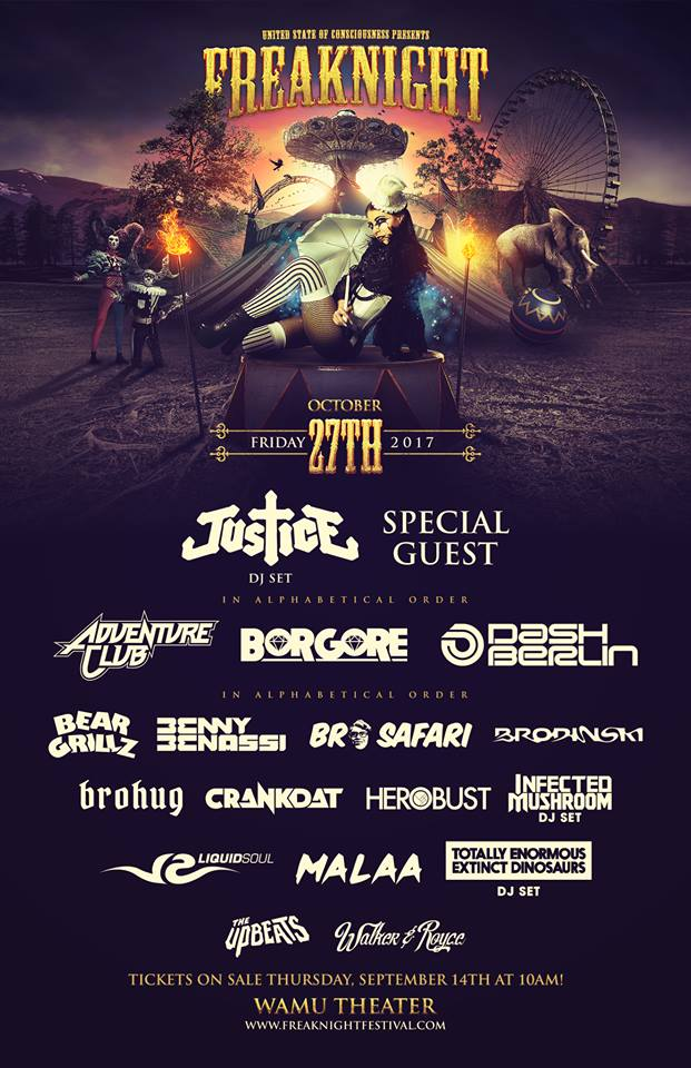 FreakNight 2017 Lineup Flyer