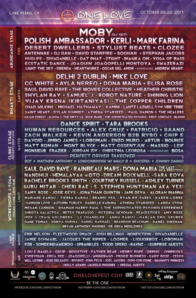 One Love Festival 2017 Lineup