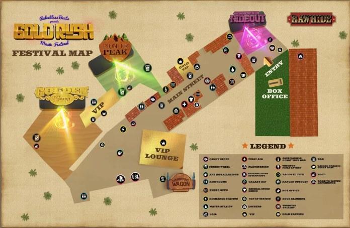 Goldrush Music Festival Map