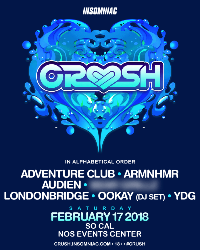 Insomniac announces monumental line-ups for their multi-city Valentine's tourCrush SoCal 2018 Lineup 1.png?resize=696%2C870&ssl=1