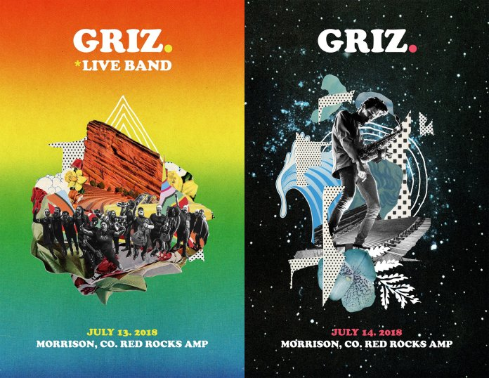 GRiZ at Red Rocks 2018 Flyers