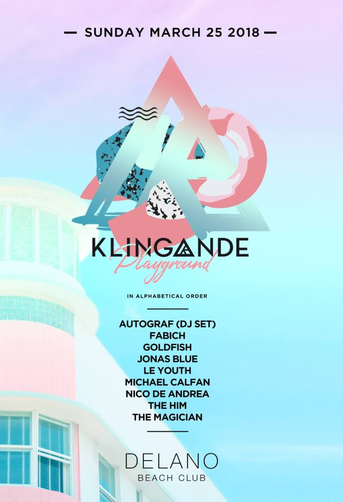 Klingande Playground Miami Music Week 2018