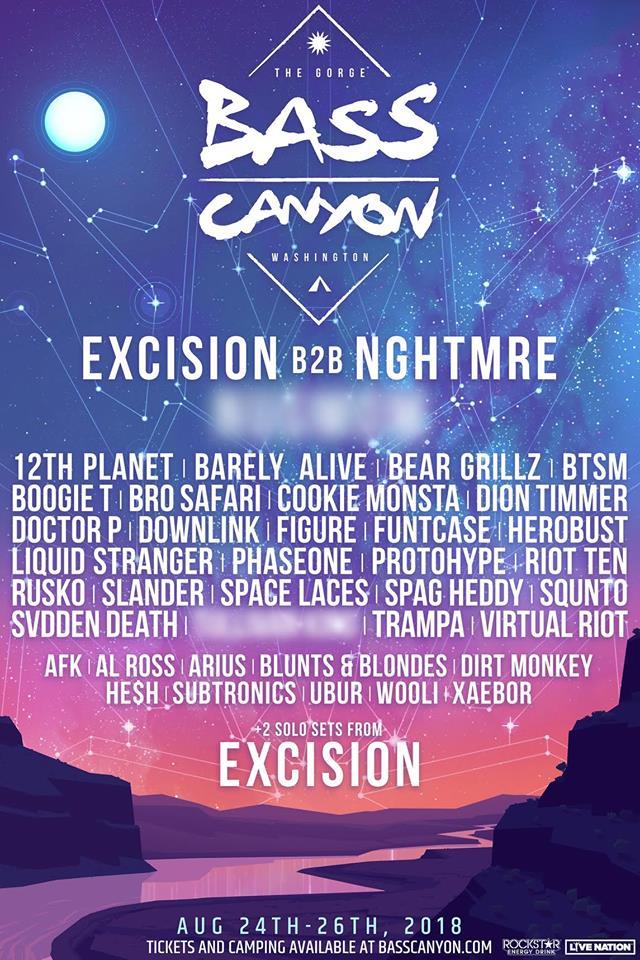 Bass Canyon 2018 Lineup Additions