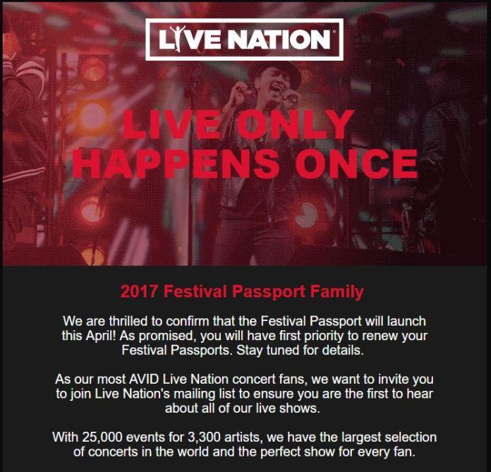 Festival Passport Announcement 2018