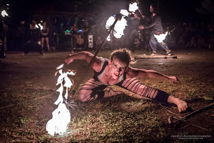 Envision Festival Fire Performer
