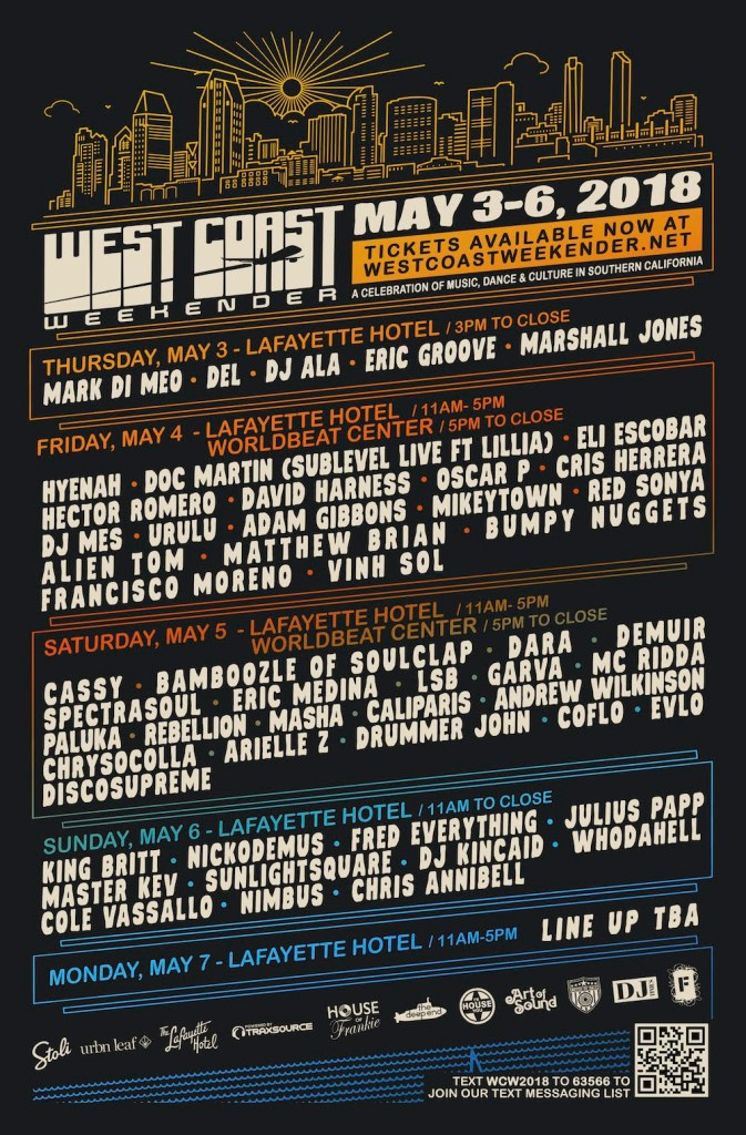 West Coast Weekend 2018 Lineup